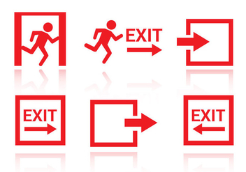 Free Emergency Exit Icons Vector - Free vector #328695