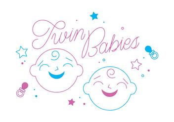 Free Twin Babies Vector - vector #328725 gratis