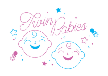 Free Twin Babies Vector - Free vector #328725