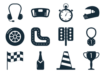 Pit Stop Pictogram - Free vector #328745