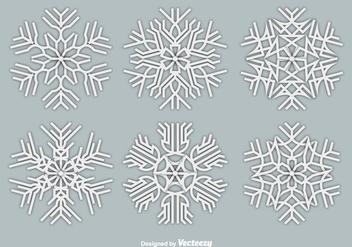 Paper white snowflakes - Free vector #328805
