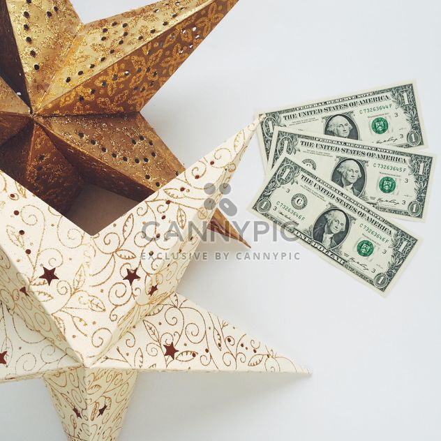 two stars and 3 dollars on white background - Free image #329235