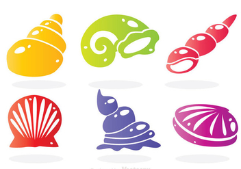 Sea Shell Colors Icons - Free vector #329345