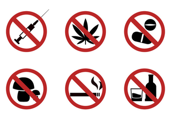 Set of Forbiding Signs in Vector - Free vector #329355