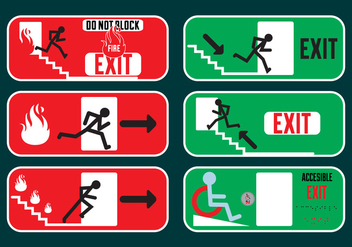 Exit signs in Vector Fromat - Free vector #329425