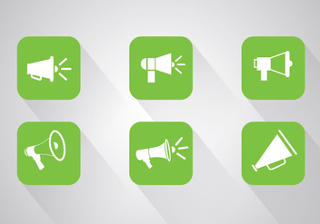 Megaphone icon vectors - Free vector #329445