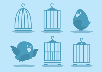 Bird Cage Vector Set - бесплатный vector #329485