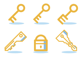 Key Of Life Icon Set - vector gratuit(e) #329505