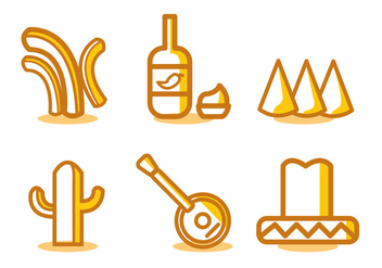 Mexican Food Vector Set - Kostenloses vector #329515