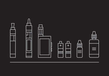 Free Vape Vector Icons #2 - Free vector #329525