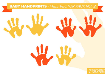 Baby Handprints Free Vector Pack Vol. 2 - Free vector #329535