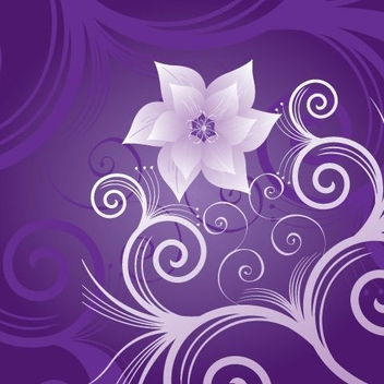 Violet Blue Flouring Background - Free vector #329585