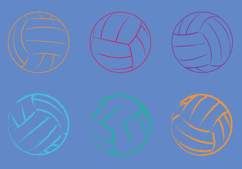 Free Volleyball Vector Illustration - Free vector #329675