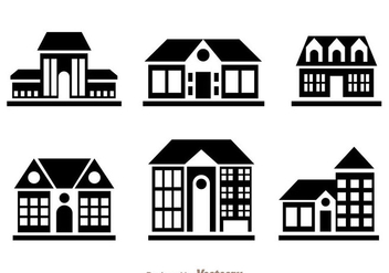 Townhomes Black Icons - Free vector #329715