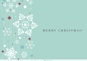 Hanging snowflakes background vector - vector gratuit #329735