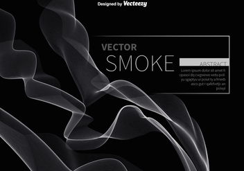Abstract white smoke vector - vector #329795 gratis