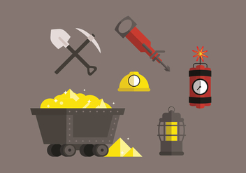 Gold Mine Vector Pack - Kostenloses vector #330145