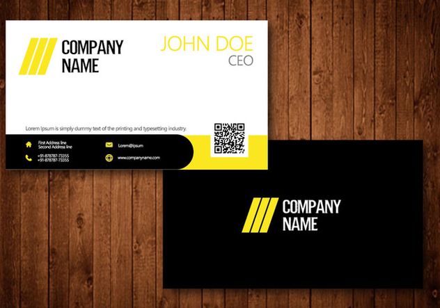 Creative Business Card - Free vector #330565