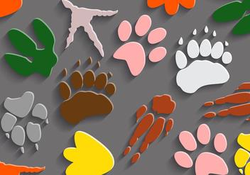Free Dinosaur Footprints Vector - Free vector #330605