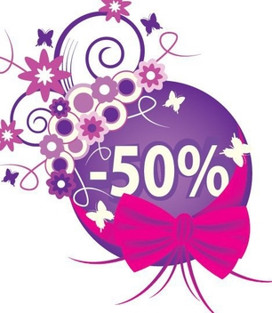 Promotional Abstract Floral Sale Banner - vector gratuit(e) #330625