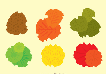 Plant Top View Set - vector gratuit #330755