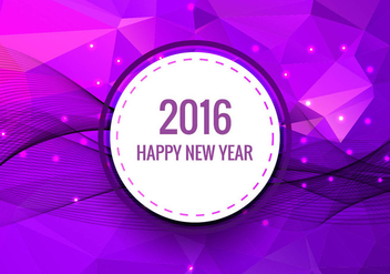 Happy new year 2016 - vector gratuit #330795