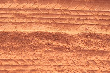 traces of the wheels on the red dust - Free image #331005