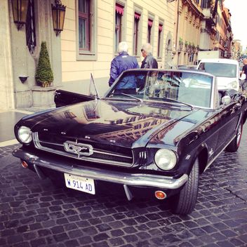 Black Ford Mustang car - image #331035 gratis