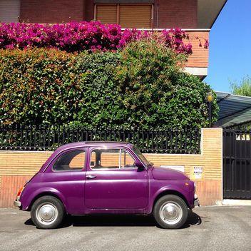 Violet Fiat 500 car - бесплатный image #331285