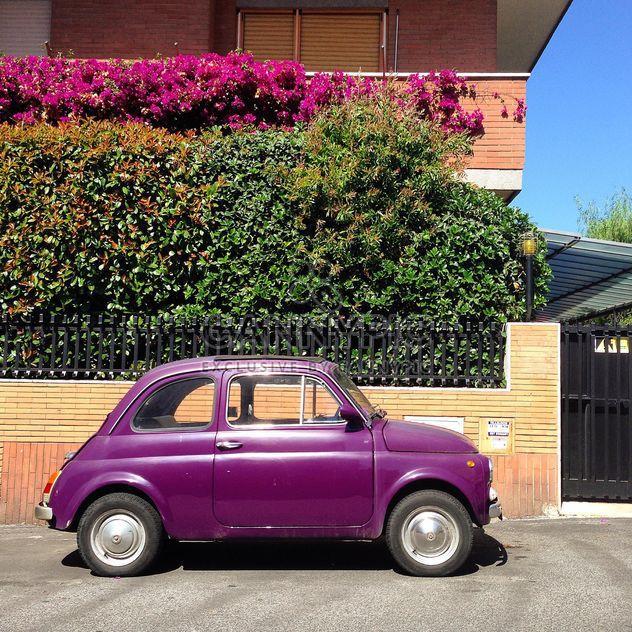 Violet Fiat 500 car - Free image #331285