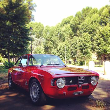 Red Alfa Romeo car - image #331315 gratis