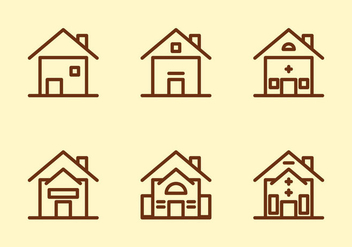 Free Townhomes Vector Icons #5 - бесплатный vector #331365