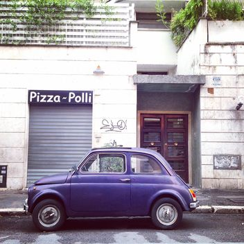 Old Fiat 500 Roma car - Free image #331425