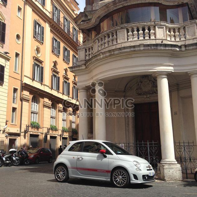 Old white Fiat 500 - image gratuit #331455