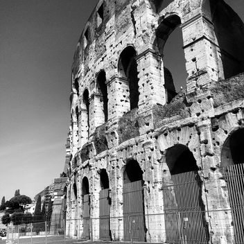 Colosseum in Rome, Italy, black and white - image gratuit #331805