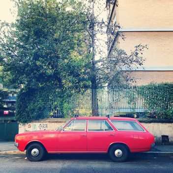 Old red Opel Rekord - image #331825 gratis