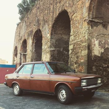 Old brown Fiat 131 car - Free image #331855