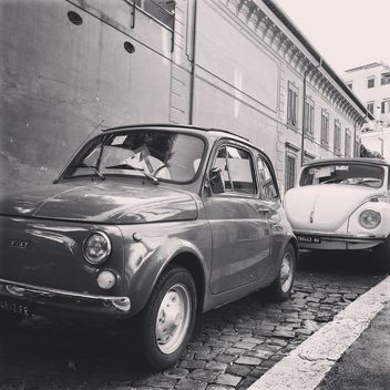 Old Fiat and Volkswagen cars - image gratuit #332045