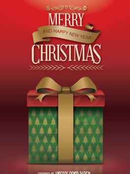 Elegant Christmas Gift - vector #332715 gratis