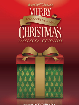Elegant Christmas Gift - Free vector #332715