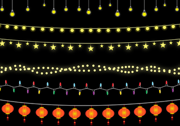 Free Hanging Lights Vector - Free vector #332995