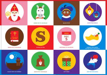 Free Saint Nicholas Vector Icons - vector gratuit #333045