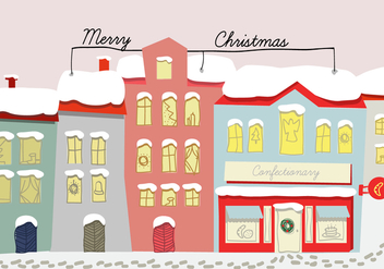 Free Hand Drawn Christmas Background Illustration - Free vector #333065
