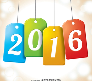 2016 tags - Free vector #333085