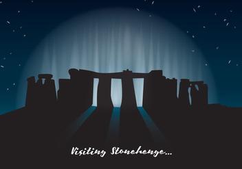 Stonehenge Landscape Vector - vector gratuit #333355