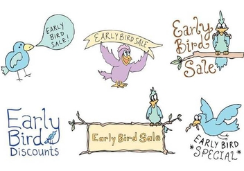 Free Early Bird Vector Series - vector gratuit #333925