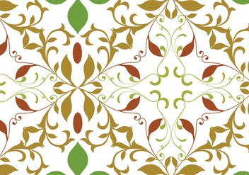 Floral garden repeat pattern - vector gratuit #334015