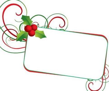 Mistletoe Frame Christmas Banner - vector gratuit(e) #334325