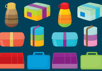 Plastic Lunch Boxes - vector gratuit #334405