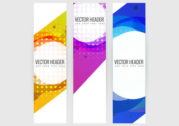 Set of vertical banners - Free vector #334645